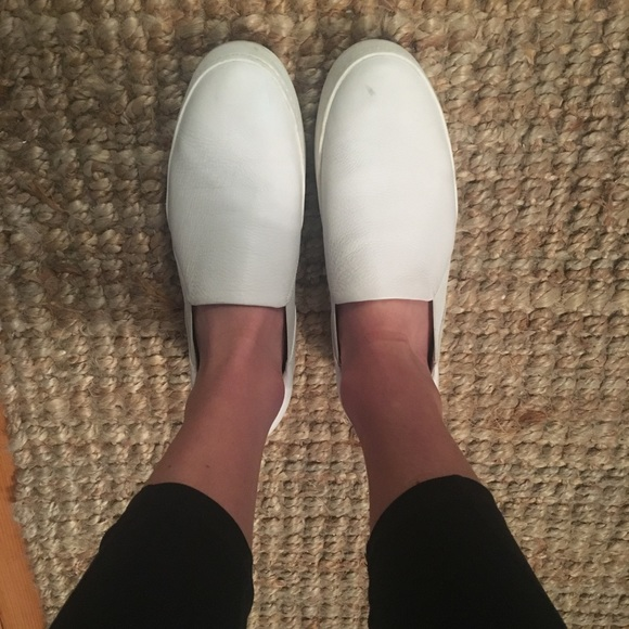Vince Warren White Leather Sneaker